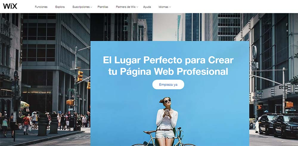 Crear Página Web con Wix